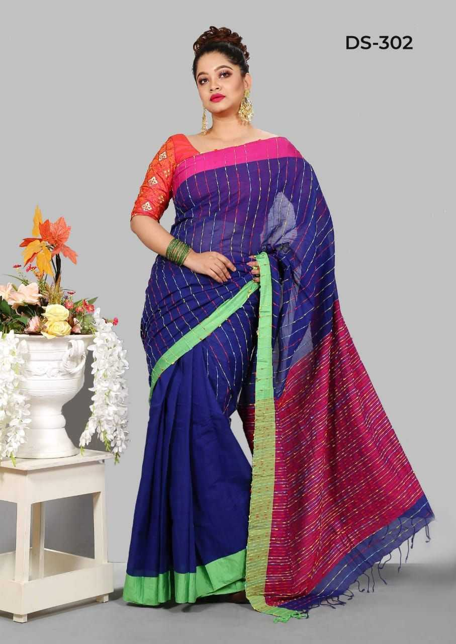 Fashionable Deshi Cotton Saree - Ds-302